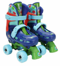 PlayWheels Pj Masks Beginner Quad Roller Skates w/ Toe Brake (4x Adjustable)