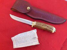 Case XX USA mint India stag 5300 fixed blade knife & sheath
