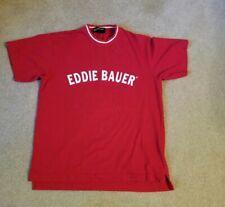 Vtg 90s Eddie Bauer Ebtek Men's Spell Out T-Shirt Sz Sm Outdoor Sewn Appliques