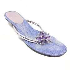 Women's Cole Haan Slide Thong Flip Flops Sandals Shoes Size 9 B Blue Purple U12