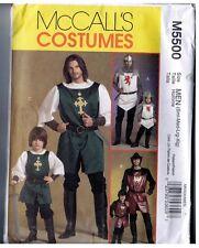 McCalls M5500 Prince Knight Samurai Costume Pattern Uncut Men's Small to X Large