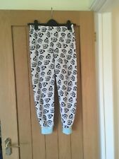 Girls Fleece Pyjama Trouser Bottoms, Dalmatian Print. Age 9-10 Years