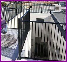 Aluminium Cerified Black Flat Top Pool Fencing 2.4longx1.2high Garden fence