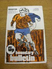 15/01/1972 Oldham Athletic v Brighton And Hove Albion  (Creased, Worn). Item app