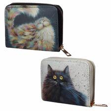 Kim Haskins Cat Zip Around Small Wallet Purse