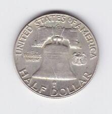 1963 Ben Franklin 1/2 Half Dollar Silver Liberty Bell Coin America Z-519