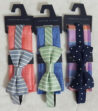 Tommy Hilfiger Pre-Tied Bow Tie and Pocket Square Sets, 3 Matching Sets