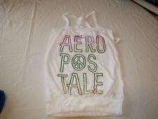 Aeropostal Aero white XS xsmall Womens 102 white tank top t shirt NWT#