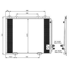 Kondensator Klimaanlage - NRF 35228