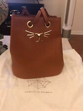 Charlotte Olympia Small Leather Kitty Bucket Bag
