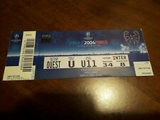 Uefa Champions League 2006 Final Ticket