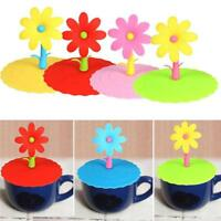 Anti-dust Silicone Glass Cup Cover Coffee Mug Suction Seal Lid Cap Cover BL3