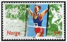 Timbre Sports Athlétisme Norvège 971 ** lot 15075