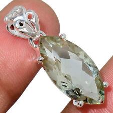 Green Amethyst - Brazil 925 Sterling Silver Pendant Jewelry AP213135