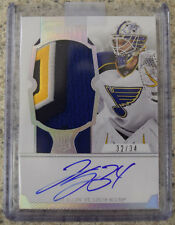 Jake Allen 2012-13 Panini Dominion Rc Patch Autograph #32/34 St. Louis Blues