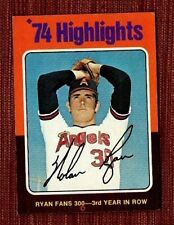 Vintage 1975 Topps #5 Nolan Ryan HL/Fans 300 for/3rd Year in a Row Angels Card