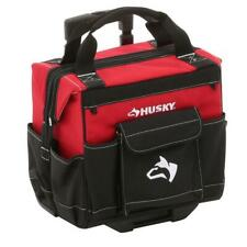 Husky Rolling Tool Tote Bag 14 in. Telescoping Handle Innovative Skid Plates