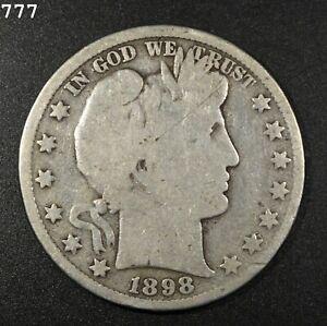 1898 Barber Half Dollar *Free S/H After 1st Item*