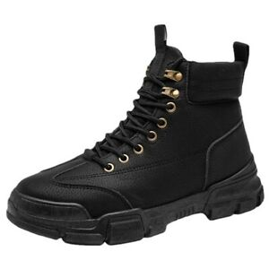 British Style Mens Casual Outdoor Lace Up Comfortable Shoes Ankle Riding Booties