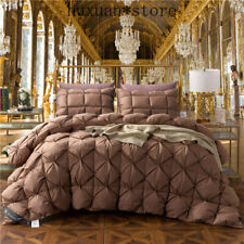 King Queen Twin Size 100% Goose Down Soft Duvet Throw  Comforter Bedding Filler