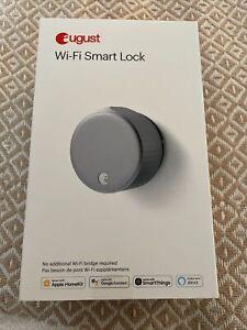 August August Keyless Entry Lock Wi-Fi Smart Lock (4th Gen) - Silver New
