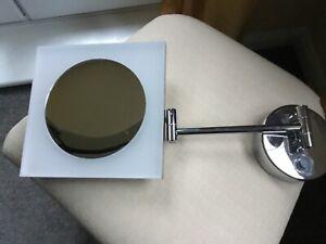 3x Magnifying LED Square Wall Mounted IP44 Bathroom Shaving / Vanity Mirror