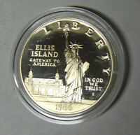 Proof 1986-S Ellis Island Statue of Liberty Commemorative Silver Dollar (pk.rm)