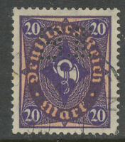 """DT.REICH Posthorn 20 M violett/orangerot Type II (W) Kab.Erh Perfin """"B II"""" INFLA"""