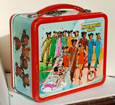 Vintage Disney NEW MICKEY MOUSE CLUB Lunchbox Metal Lunch Box Pail Aladdin 1977