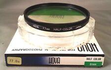 Genuine Hoya 77mm Half Color Green Half Clear Glass Lens Filter 77 mm Japan Rare