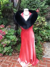 Norwegian Black Fox fur shawl collar mini stole wrap Made in the USA