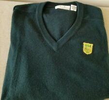 TSE Sport L/S Green 100% Cashmere V-Neck Sweater w/WGA Crest on Chest Sz XL