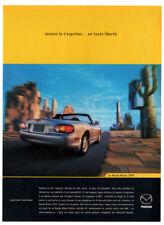 1999 MAZDA Miata Vintage Original Print AD Silver convertible car photo Canada