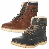 Mustang Men's Shoes Winter Shoes Boots Lace Up Boots Winter