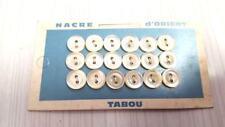 cartonnette de 18 boutons en nacre ivoire - vintage - 9mm - 331DIV