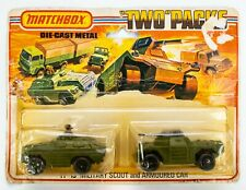 1977 Matchbox Two Packs TP-13 Military Scout and Armoured Car OLIVE GREEN