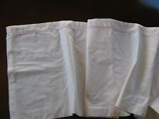 Custom Made Kids 100% Cotton Lined Curtain Valance white with Pink Dots