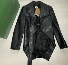 Burberry 100% GENIUNE Belted Leather Biker Jacket  Sz UK 6 EU 38 NEW! RRP £2990