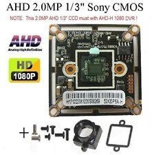 "AHD HD 1080P 2.0mp 1/3"" Sony CMOS CCTV Color Board Camera + Base Mount (AB-17"