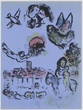 Marc Chagall original lithograph - Nocturne at Vence