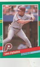 FREE SHIPPING-MINT-1991 Donruss #523 Lenny Dykstra Philadelphia Phillies