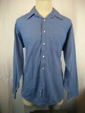 Mens Geoffrey Beene Cotton Blend Blue Pinpoint Noiron LS Casual Shirt sz 16-34/5