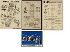 Lot of 4 Vintage Kawasaki Dealer Only Poster Posters H1 H2 Z1 S2 2' x 3' Huge