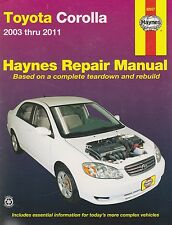 2003-2011 Haynes Toyota Corolla Repair Manual