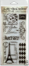 Tim Holtz Visual Artistry Clear Stamps FRENCH MARKET
