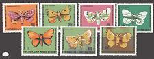 Mongolia 1977 Mariposas/polillas/Insectos 7 V Set n12167