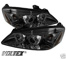 2005-2008 PONTIAC G6 2DR 4DR HALO LED PROJECTOR HEADLIGHTS LIGHTBAR SMOKE
