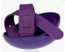 New Cinture Too Late Belt Purple 100% Made in Italy