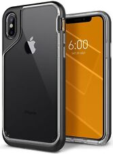 Caseology® iPhone X XS SKYFALL Shockproof Bumper Slim Clear Case Cover Black