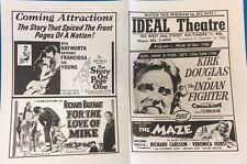 GUNS OF NAVARONE THE MAZE vintage 1961 handout Ideal Theatre (Hampden MD)